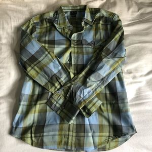 A|X Armani Exchange Men's plaid shirt